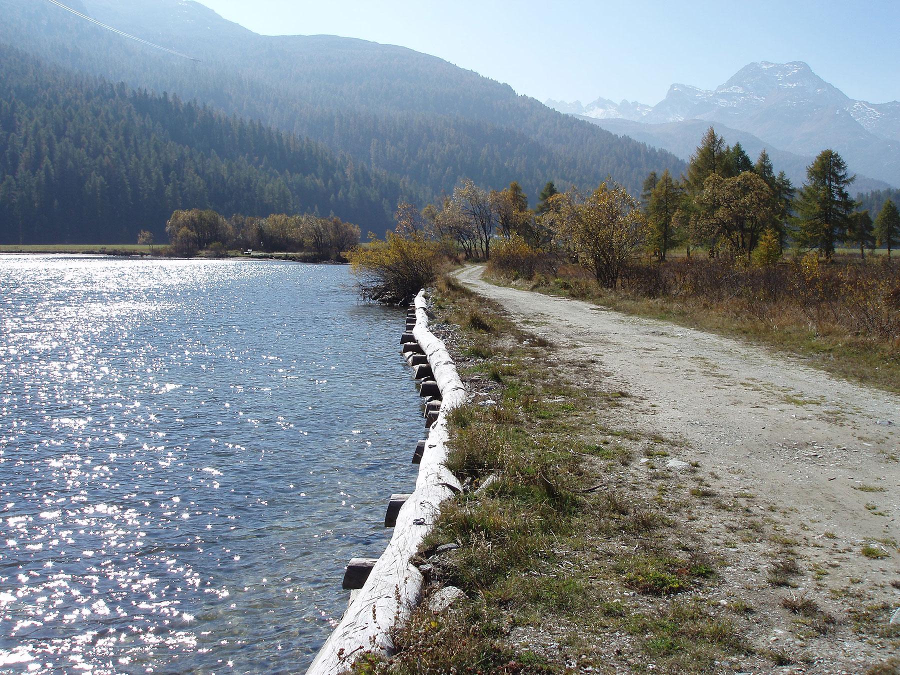 Uferweg vor der Renaturierung